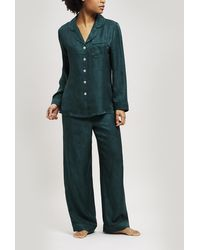 Liberty - Hera Silk Jacquard Long Pyjama Set - Lyst