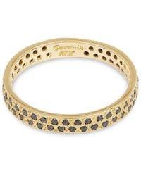 Satomi Kawakita Gold Black Diamond Double Eternity Ring