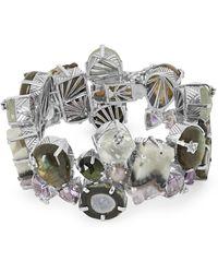 Stephen Dweck Silver Multi-stone Bracelet - Metallic
