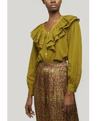 MASSCOB Herman Ruffle Collar Shirt - Green