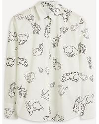 PS by Paul Smith Bunny Motif Cotton Shirt - White