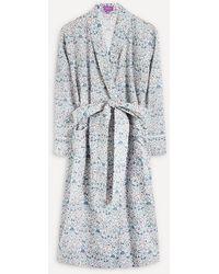 Liberty Imran Tana Lawn Cotton Long Robe - White