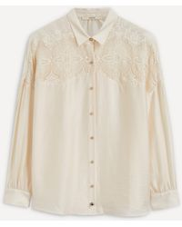 Sessun Trinite Lace Panel Shirt - Multicolour