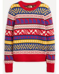 The North Face Fair Isle Logo Wool Sweater - Red