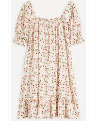 byTiMo Printed Babydoll Dress - Multicolor
