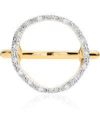 Monica Vinader Gold Vermeil Riva Diamond Circle Ring - Metallic