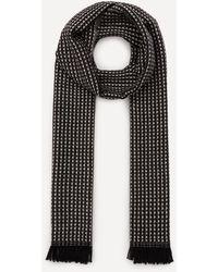Nick Bronson Micro Pattern Wool Scarf - Black