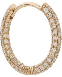"Maria Tash | 3/8"" Diamond Five Row Pave Earring 