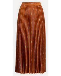 Sessun Lyrics Long Pleated Skirt - Brown