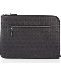 Liberty Iphis Embossed Leather Document Holder - Black