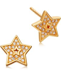 Astley Clarke - Gold-plated Mini Star Sapphire Biography Earrings - Lyst