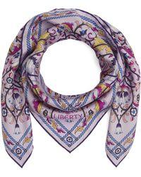 Liberty Lodden 70 X 70cm Silk Twill Scarf - Purple