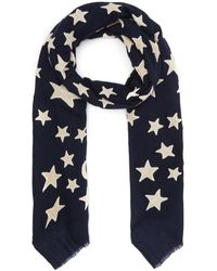 Lily and Lionel - Appliqué Velvet Moon And Star Wool-blend Scarf - Lyst