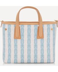 Liberty Iphis Stripe Mini Marlborough Cross-body Bag - Blue
