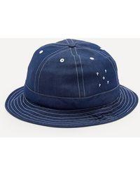 Pop Trading Company Denim Bell Hat - Blue