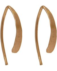 Melissa Joy Manning - Small Wishbone Hoop Earrings - Lyst