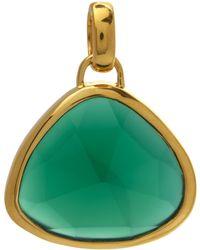 Monica Vinader Gold-plated Green Onyx Siren Pendant - Metallic