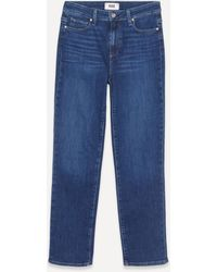 PAIGE Hoxton High-rise Straight Jeans - Blue
