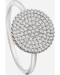 Astley Clarke White Gold Icon Diamond Ring - Multicolour