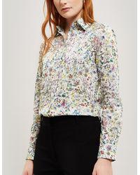 Liberty Wild Flowers Tana Lawn' Cotton Bryony Shirt - Multicolour