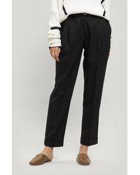 Officine Generale Pierre Italian Fresco Wool Trousers - Black