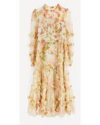 Needle & Thread Harlequin Rose Ruffle Midi-dress - Multicolour