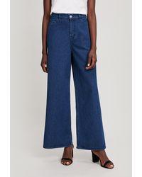 YMC Debbie High-waisted Wide-leg Jeans - Blue