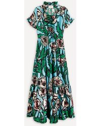 La DoubleJ Long And Sassy Silk Dress - Green