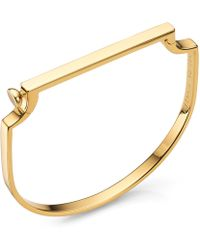 Monica Vinader - Gold-plated Signature Thin Bangle - Lyst