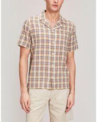Folk Camp Collar Short Sleeve Shirt - Multicolor