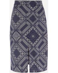 Officine Generale Desire Bandana Print Skirt - Blue