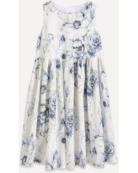 Eskandar Floral Printed Midi-dress - Multicolour