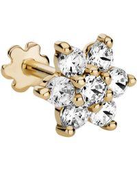 Maria Tash 7mm Diamond Flower Threaded Stud Earring - Metallic