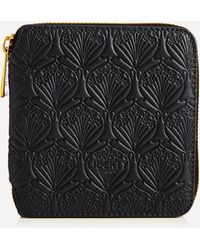 Liberty Small Wallet In Embossed Leather - Black