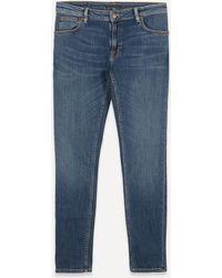 Nudie Jeans - Skinny Lin Dark Blue Navy Jeans - Lyst