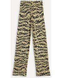 Paloma Wool Paige Knit Jacquard Pants - Green