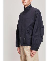 Wooyoungmi Drawstring Cotton-blend Jacket - Black