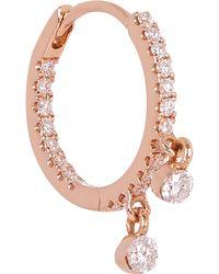 "Maria Tash - 5/16"" Diamond Two-charm Eternity Earring - Lyst"