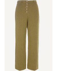 Paloma Wool Castelbuono High-waist Wool-blend Trousers - Green