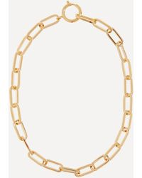 Joolz by Martha Calvo Gold-plated Open Link Chain Necklace - Metallic