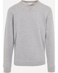 Sunspel Crew-neck Cotton Sweatshirt - Grey