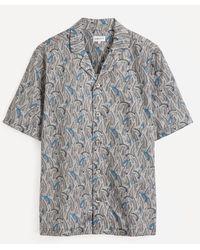 Liberty Shiomi Tana Lawntm Cotton Cuban Collar Casual Shirt - Grey