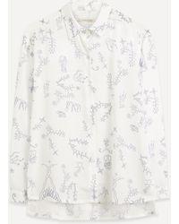 Paloma Wool Bunjin Loose Fit Floral Shirt - Blue