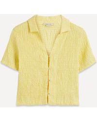 Paloma Wool Josefina Smocked Shirt - Yellow