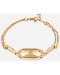 Celine Gold-tone Maillon Triomphe Chain Bracelet - Metallic