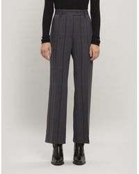 Acne Studios Patsyne Check Wool-blend Suit Trousers - Gray