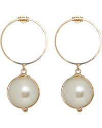 Rosantica Gold-tone Epica Faux Pearl Drop Earrings - Metallic