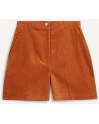 ALEXACHUNG Milne Cord Shorts - Multicolour