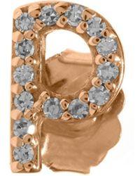 KC Designs - Rose Gold Diamond P Single Stud Earring - Lyst