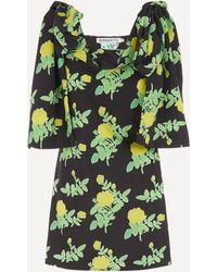BERNADETTE Timothy Taffeta Mini-dress - Green